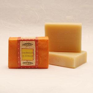 Cardamom and Orange soap bar, approx 100g