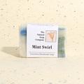 Mint Swirl guest soap, approx 50g