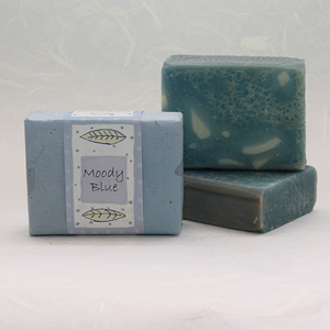 Moody Blue soap bar, approx 100g