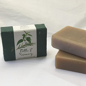 Nettle & Rosemary Shampoo soap bar, approx 50g