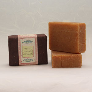 Honey, Lemon & Oatmeal soap bar, approx 100g