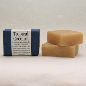 Tropical Coconut Shampoo soap bar, approx 100g