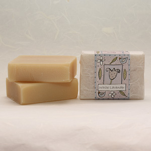 White Lavender soap bar, approx 100g