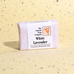 White Lavender guest soap, approx 50g
